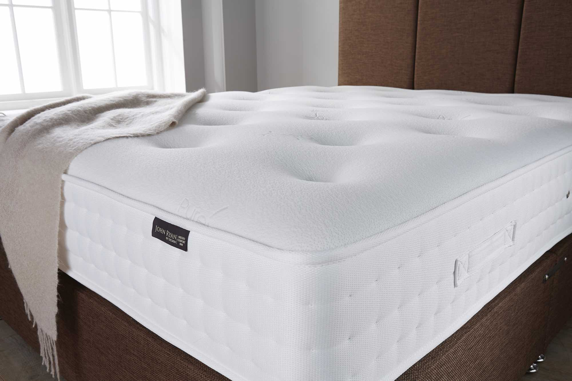 A mattress on a divan base