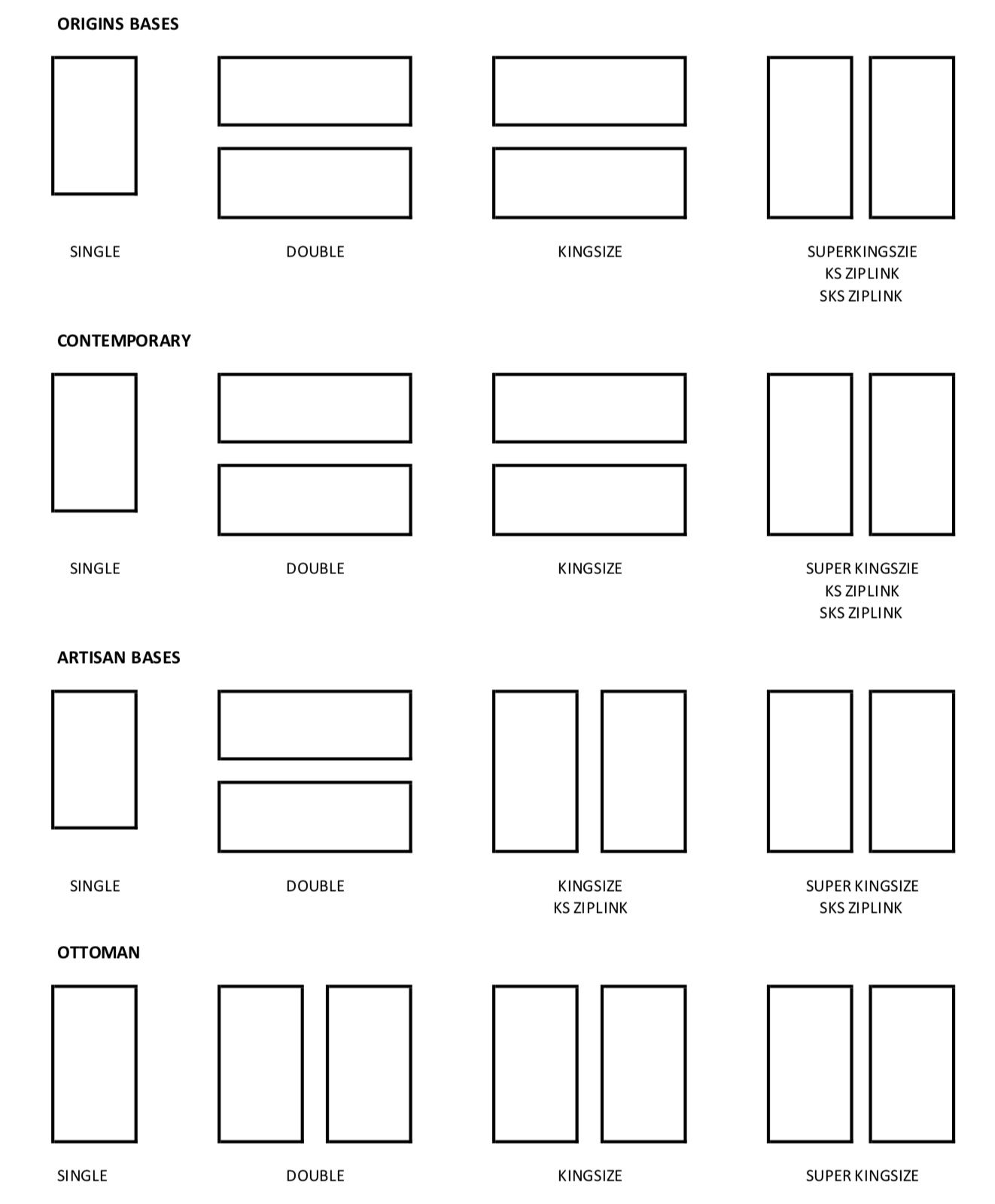 Bed Sizes Uk Bed Mattress Size Guides John Ryan By Design