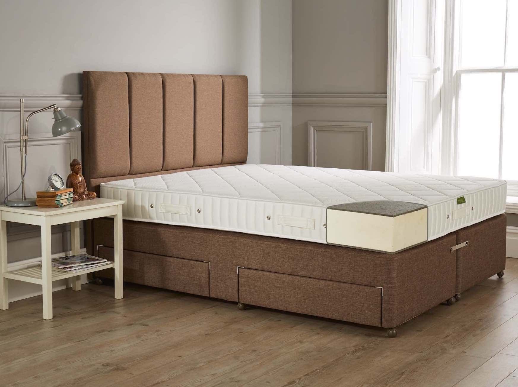 A solid core latex mattress