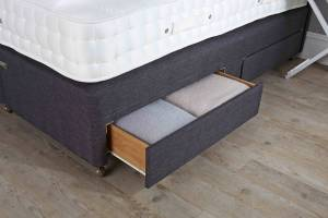 Mattress base drawers