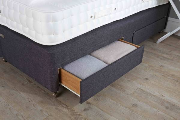 Mattress base drawers