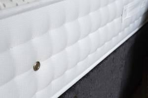 Latex mattress close up