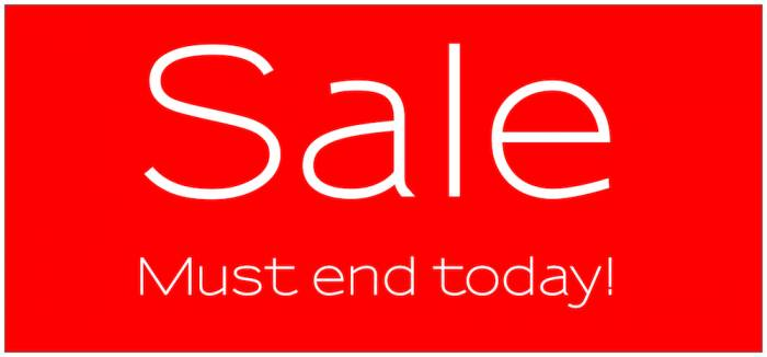 Sale must end today