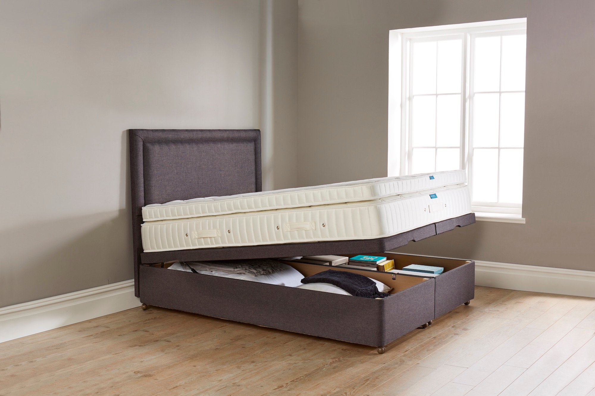 Picture of: Two 2 6 Beds That Can Be Joined Together To Create A King Size Bed Or Be Two Separate Beds For Children Query On Storage