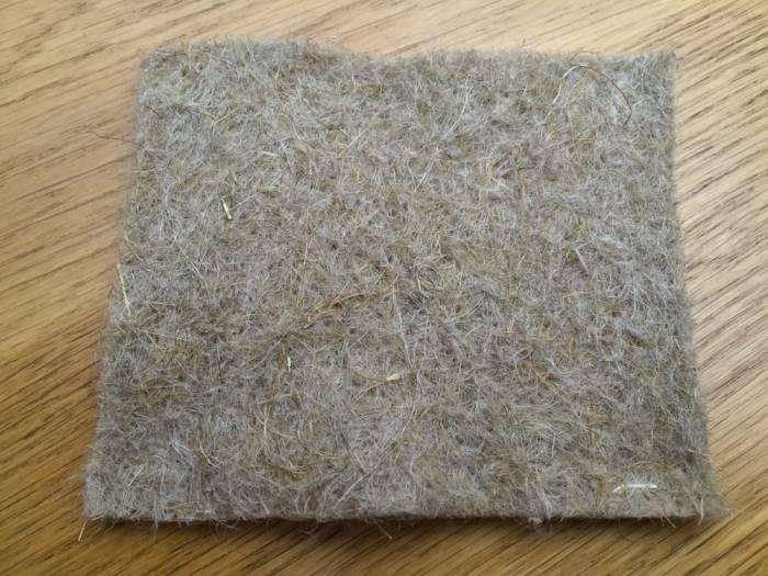 Natural flax fibre for mattresses