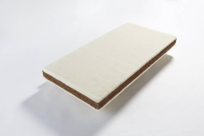 Cot mattress John Ryan By Design 12 natural latex coir and wool
