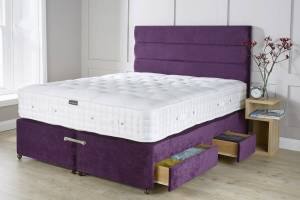 Purple Chenille Mattress Base With Drawers