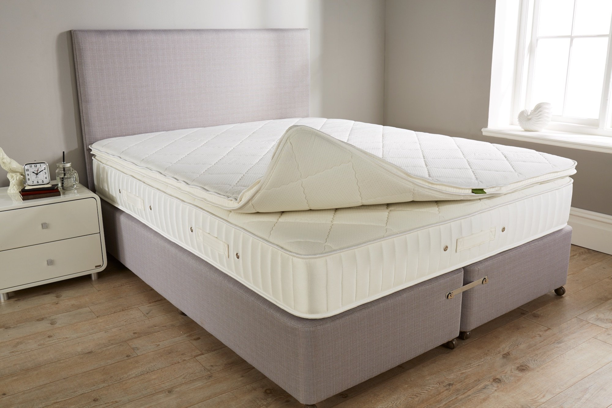 Toppers can only soften and not firm up an existing mattress