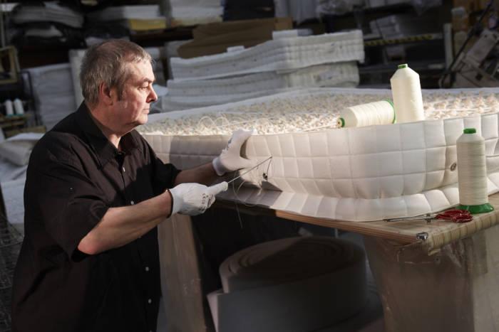 john stitching mattress side panels