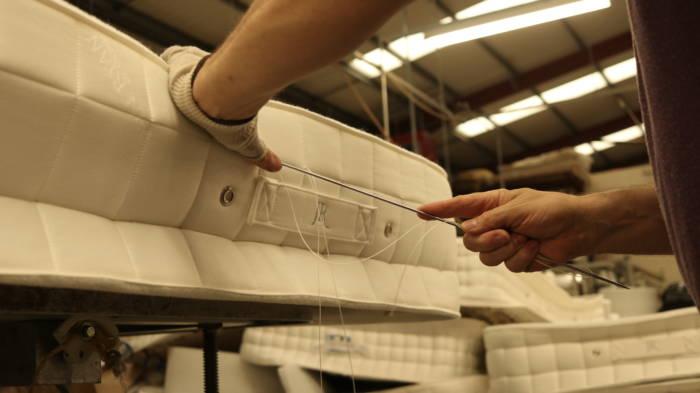 mattress side panel stitching