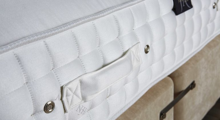 Side panel of a hand made mattress