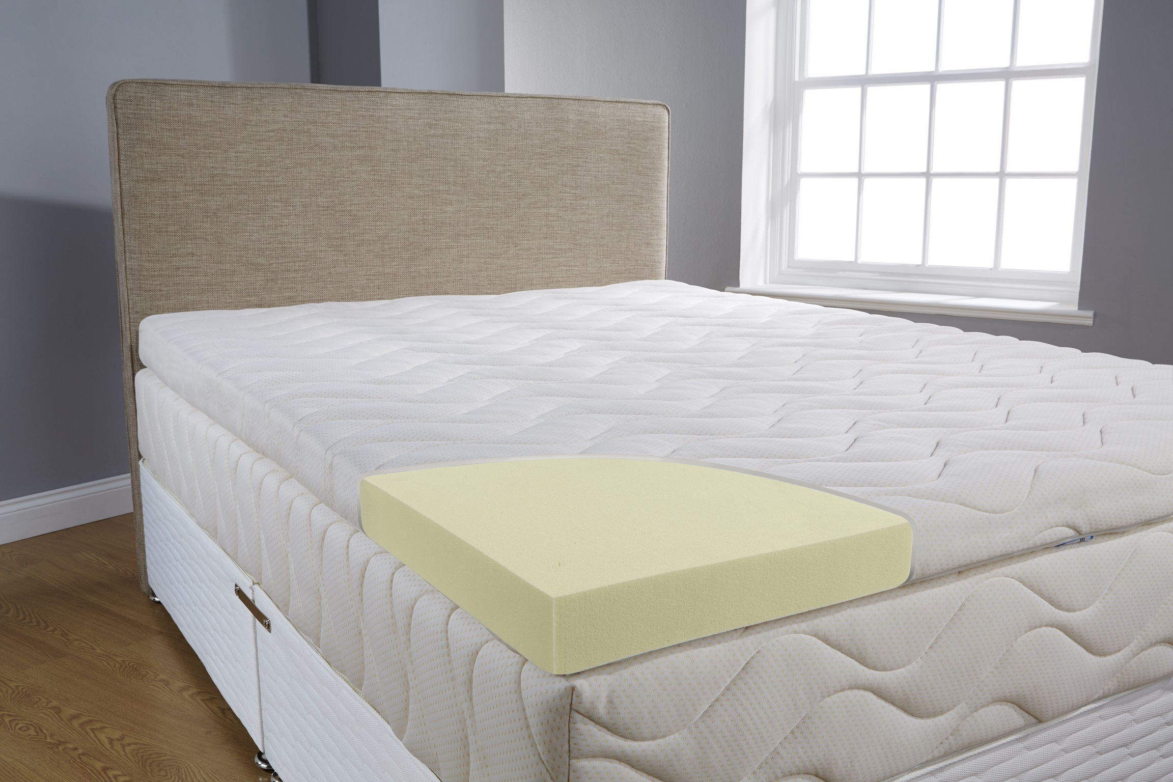 Icon designed Hybrid 7 cm mattress topper