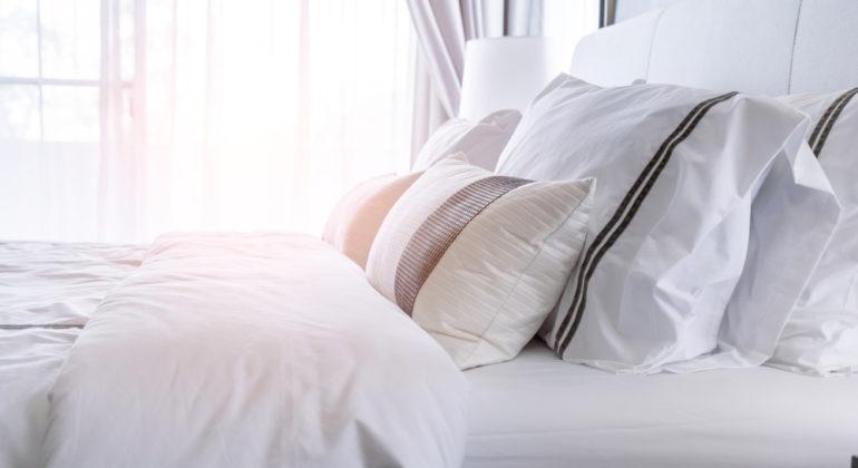White mattress and duvet cover