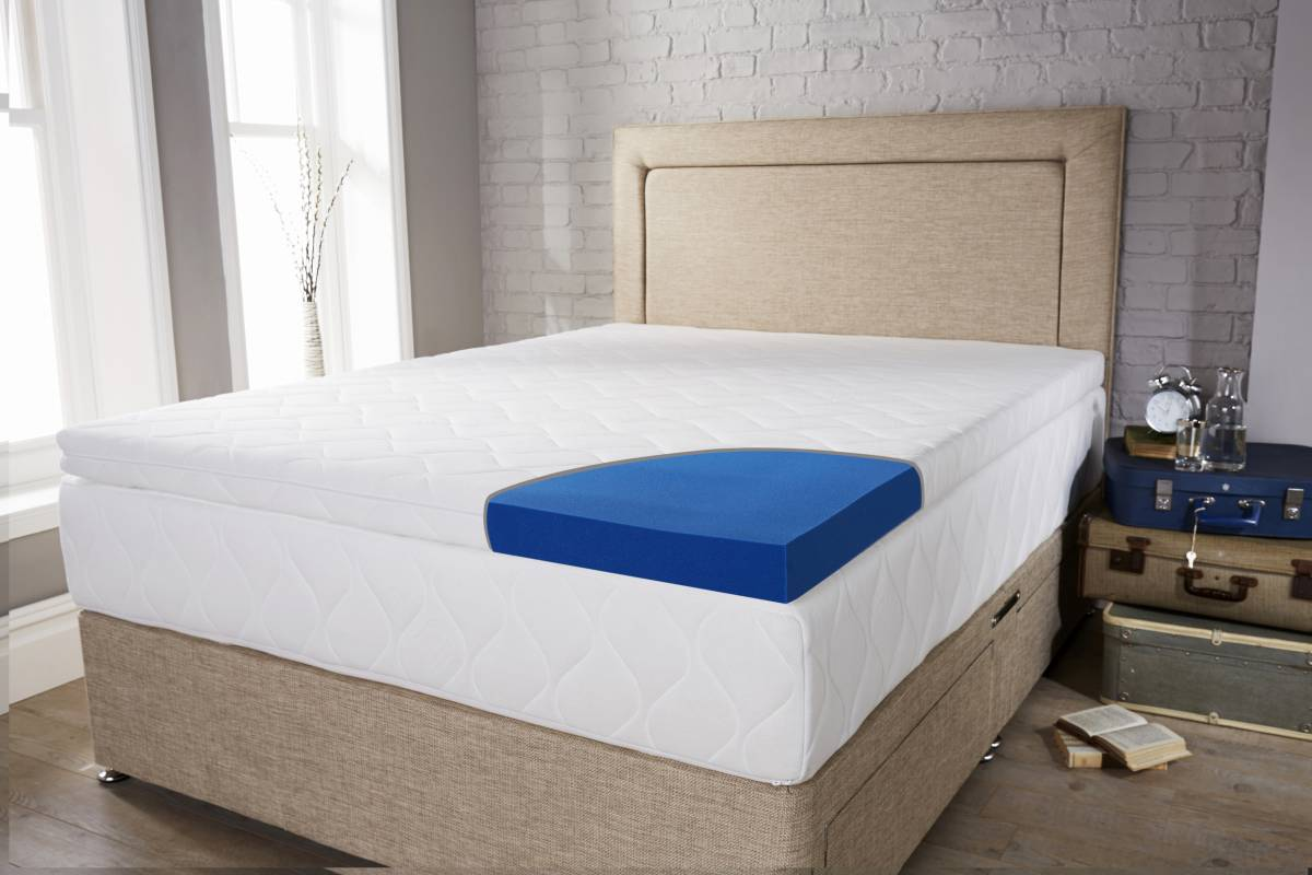 Laygel Hybrid Mattress Topper with base