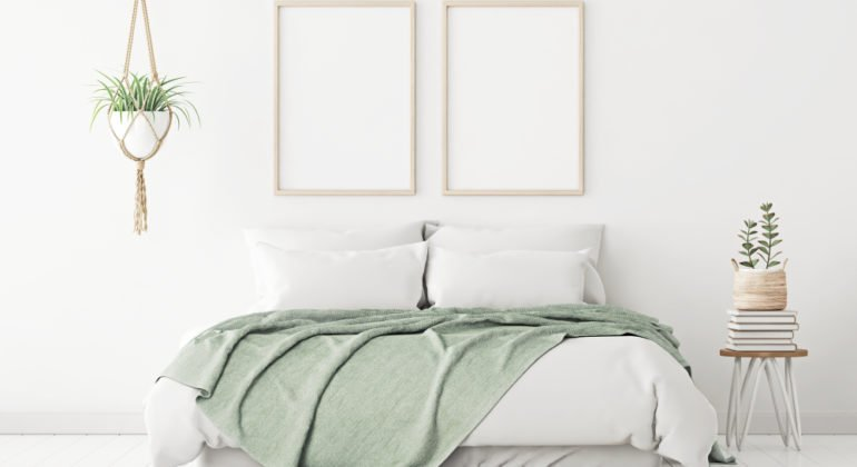 Neutral colours bedroom