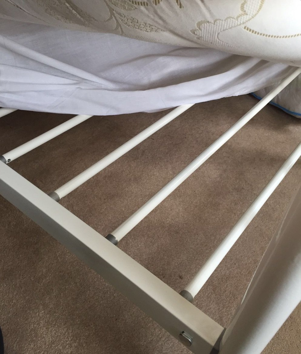 Slats can nip your mattress and damage it if not covered properly