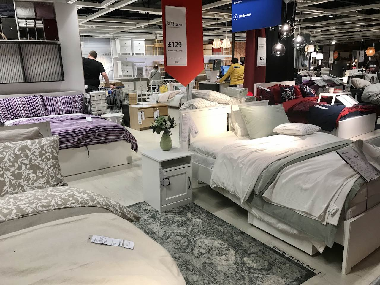 An ikea bedroom showroom