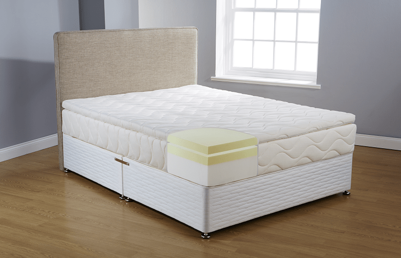 A memory foam mattress and topper